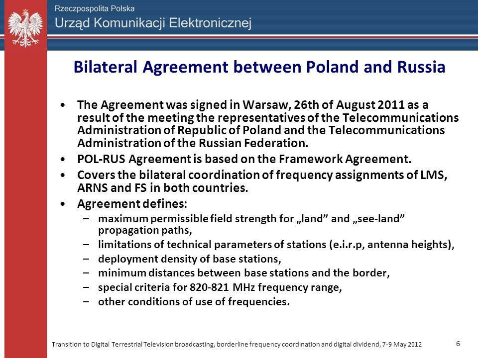 Bilateral Agreement between Poland and Russia
