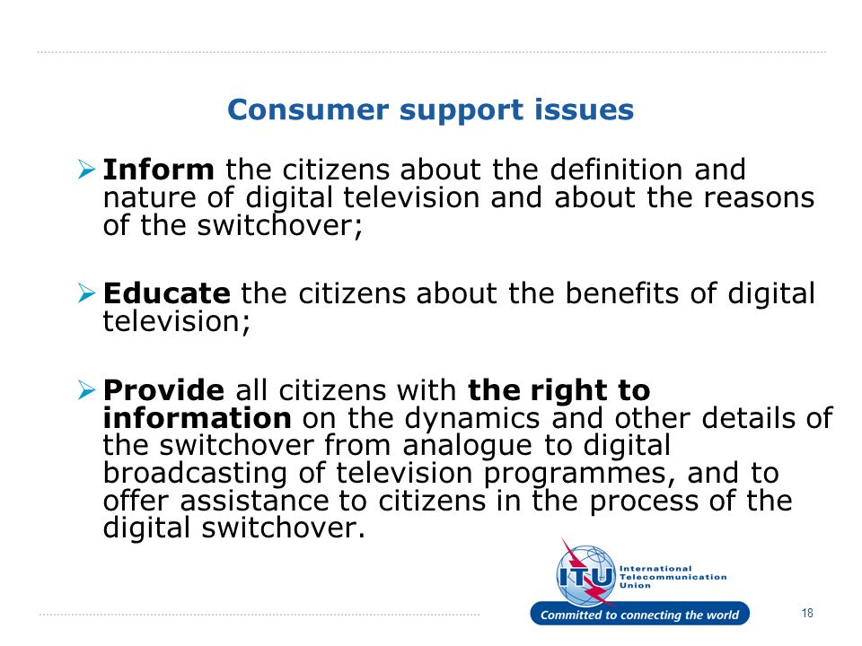 Consumer support issues