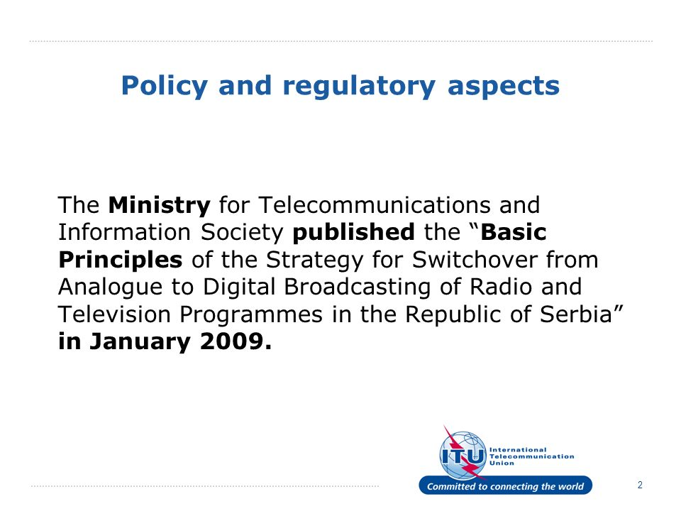 Policy and regulatory aspects