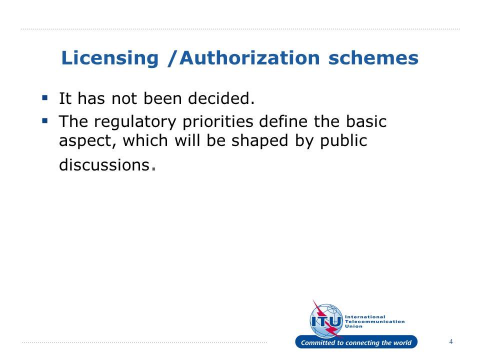 Licensing /Authorization schemes