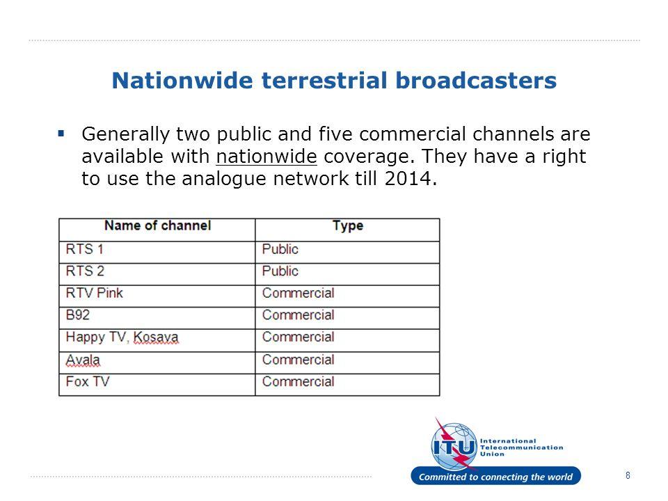 Nationwide terrestrial broadcasters