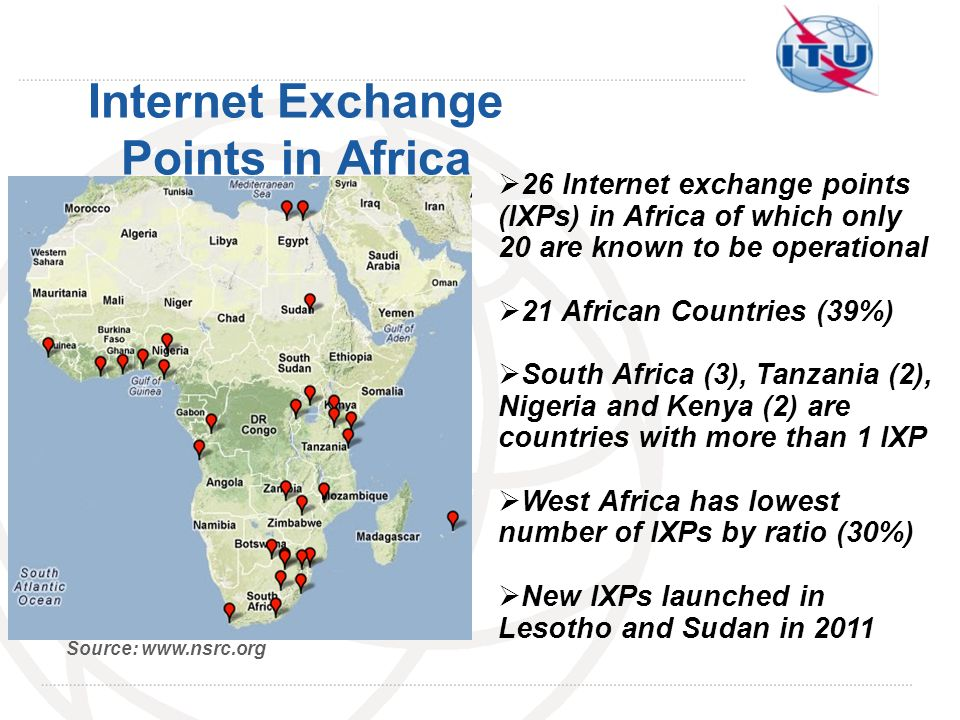 Internet Exchange Points in Africa