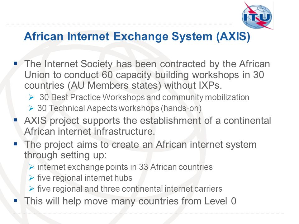 African Internet Exchange System (AXIS)