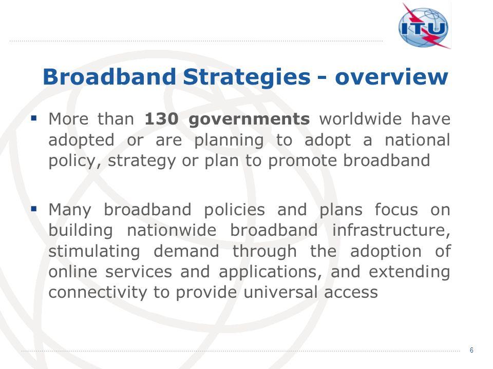 Broadband Strategies - overview