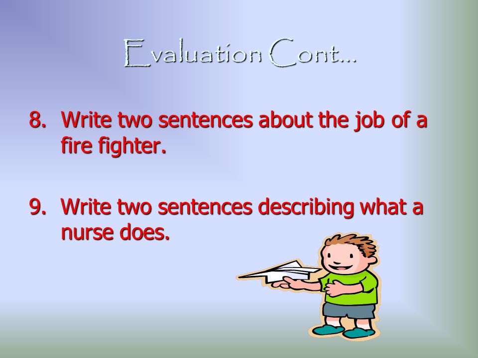 how to write an evaluation for a unit of teaching