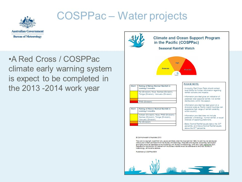 COSPPac – Water projects