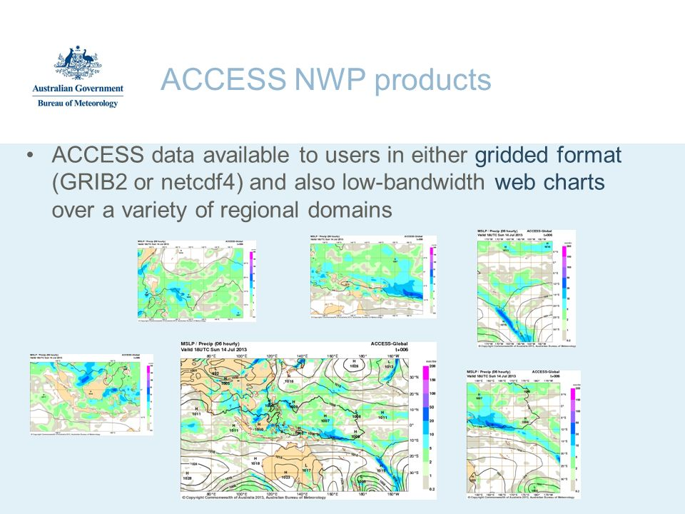 ACCESS NWP products