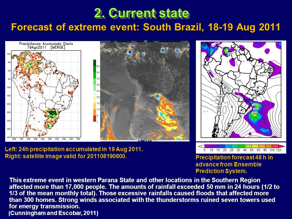 Forecast of extreme event: South Brazil, 18-19 Aug 2011