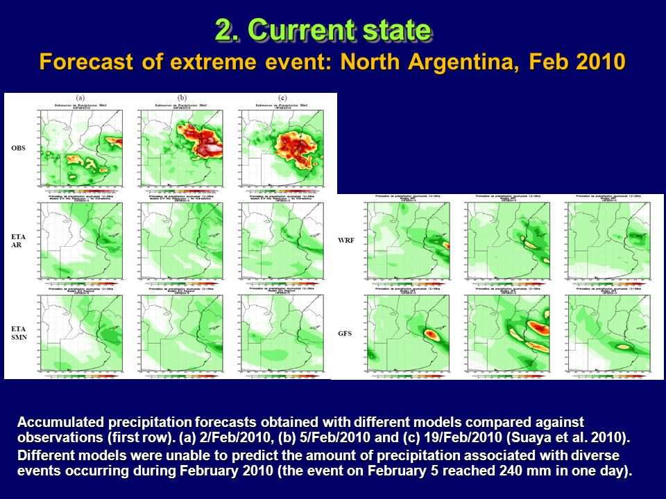 Forecast of extreme event: North Argentina, Feb 2010
