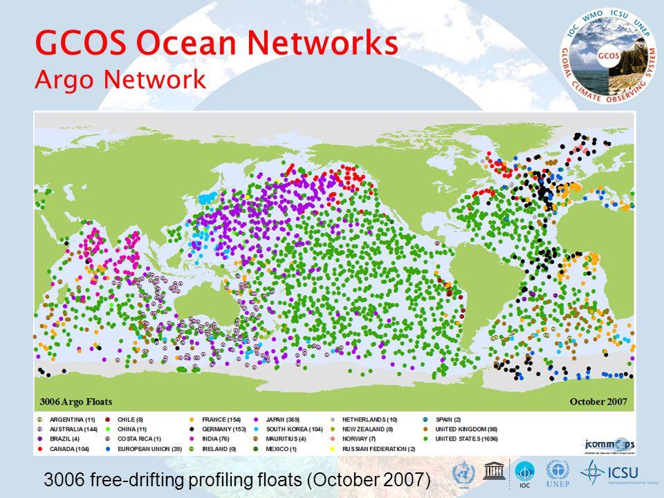GCOS Ocean Networks Argo Network