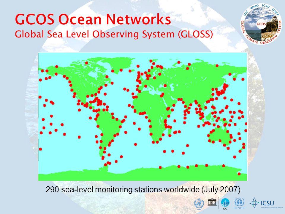GCOS Ocean Networks Global Sea Level Observing System (GLOSS)