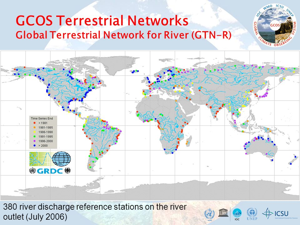 GCOS Terrestrial Networks Global Terrestrial Network for River (GTN-R)