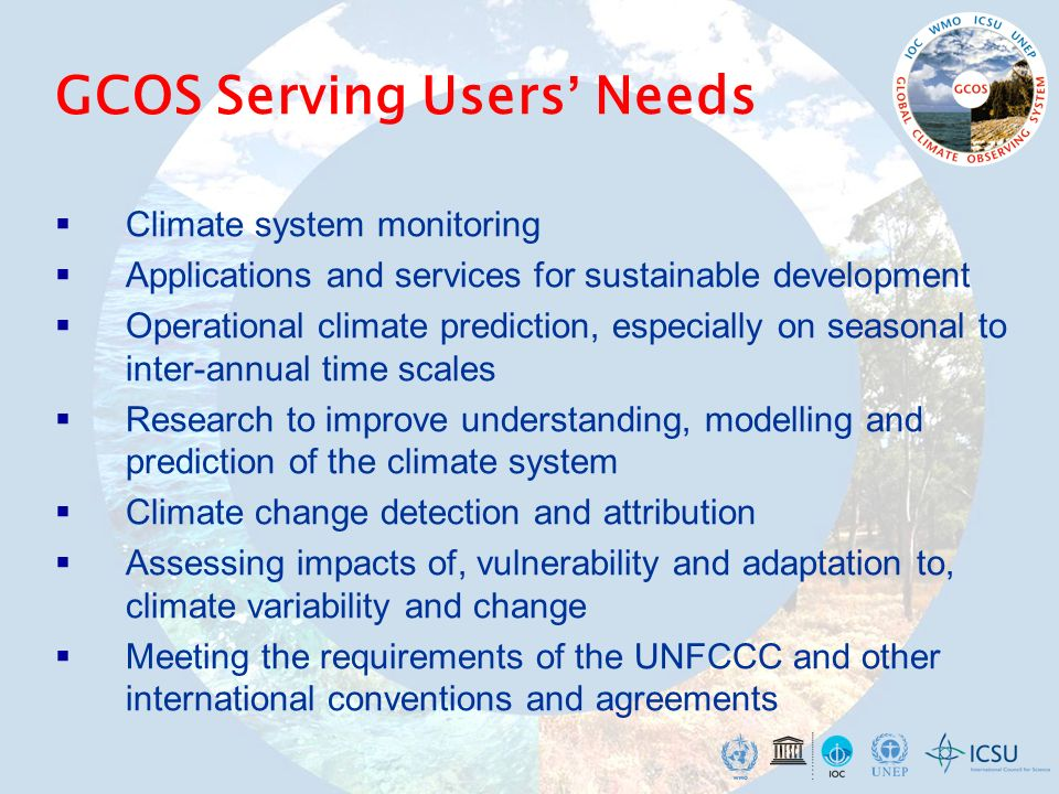 GCOS Serving Users' Needs
