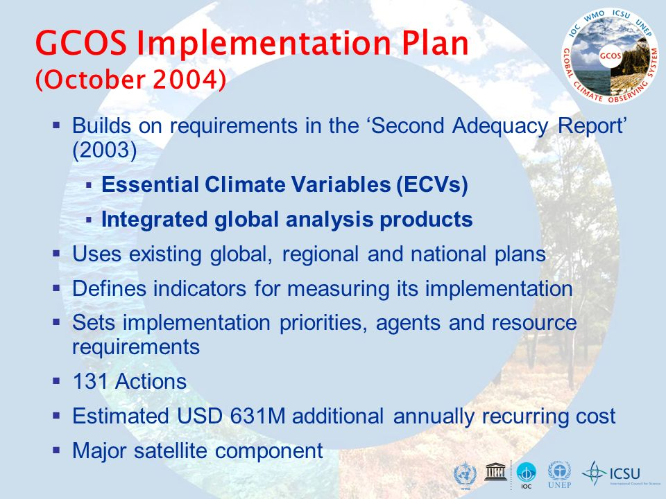 GCOS Implementation Plan (October 2004)