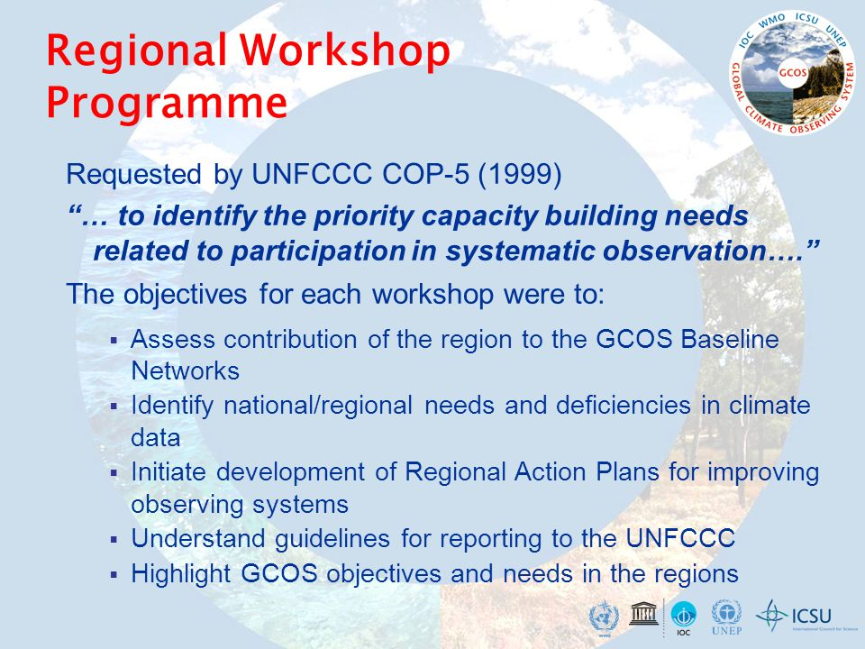 Regional Workshop Programme