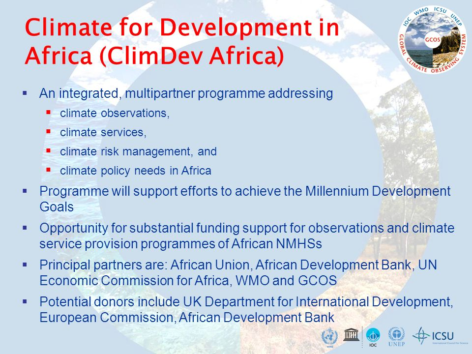 Climate for Development in Africa (ClimDev Africa)