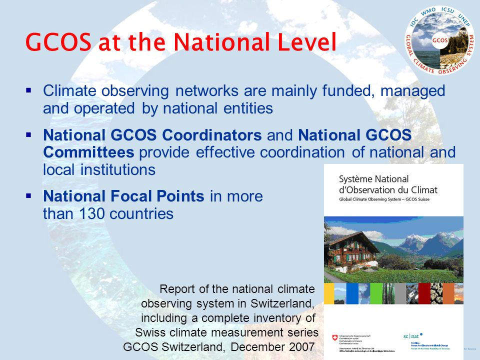 GCOS at the National Level