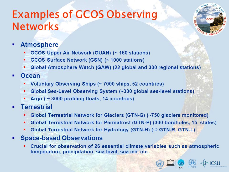Examples of GCOS Observing Networks