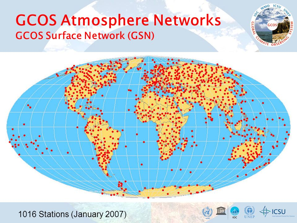 GCOS Atmosphere Networks GCOS Surface Network (GSN)