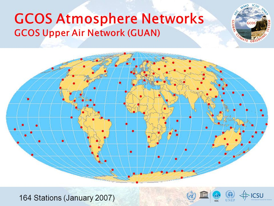 GCOS Atmosphere Networks GCOS Upper Air Network (GUAN)