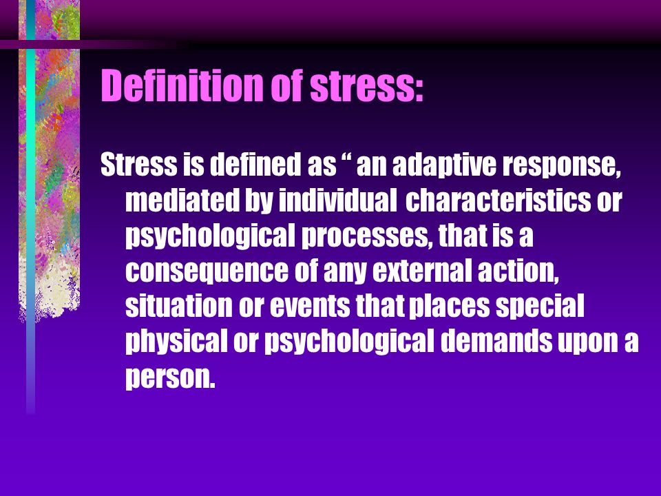 Acculturative Stress Definition