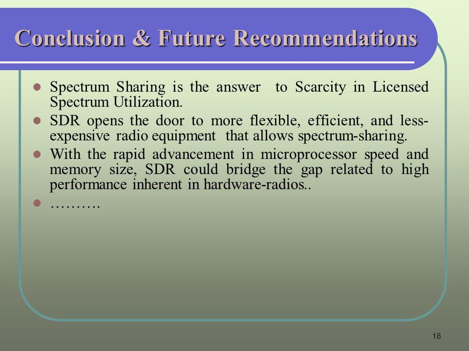 Conclusion & Future Recommendations