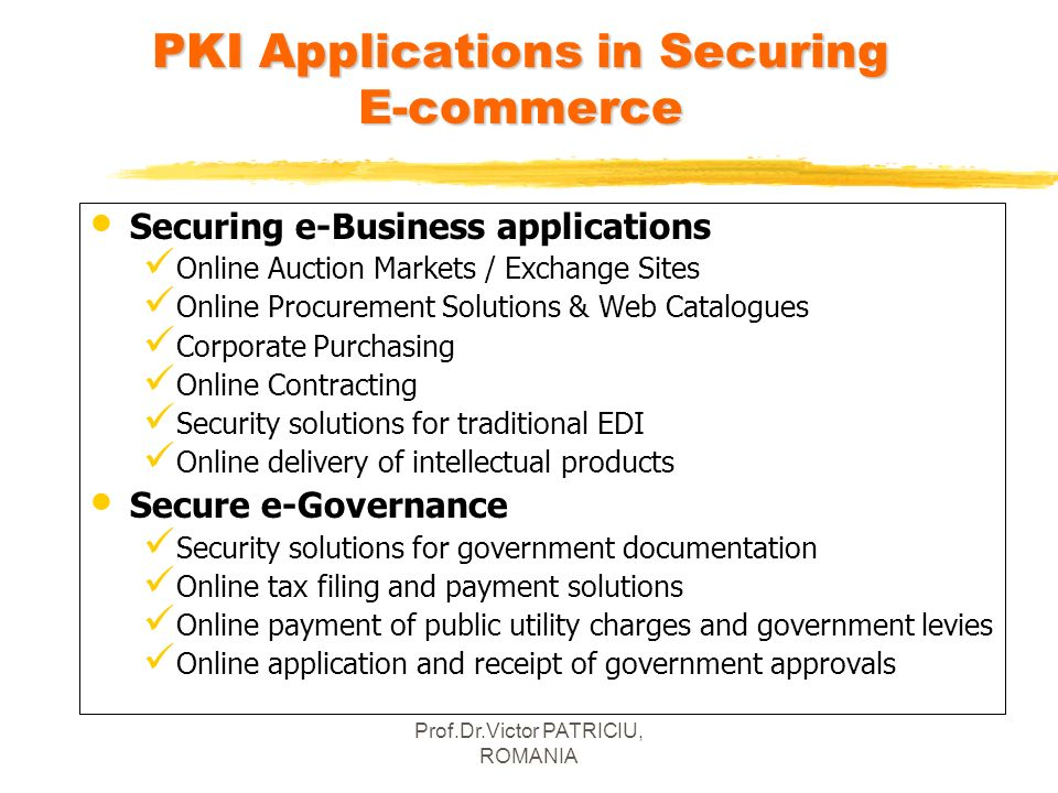 PKI Applications in Securing E-commerce