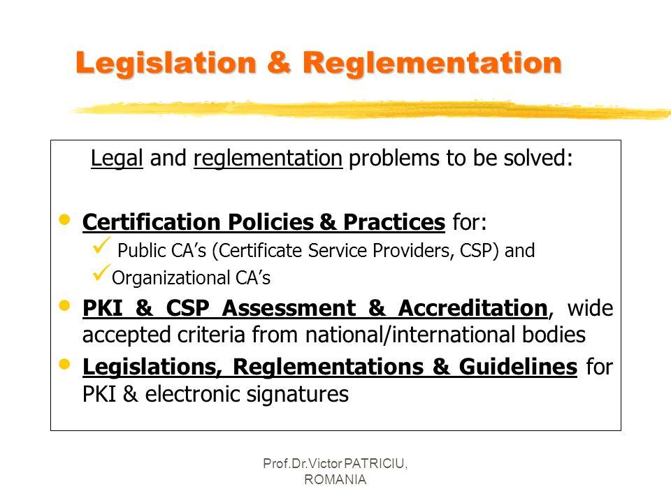 Legislation & Reglementation