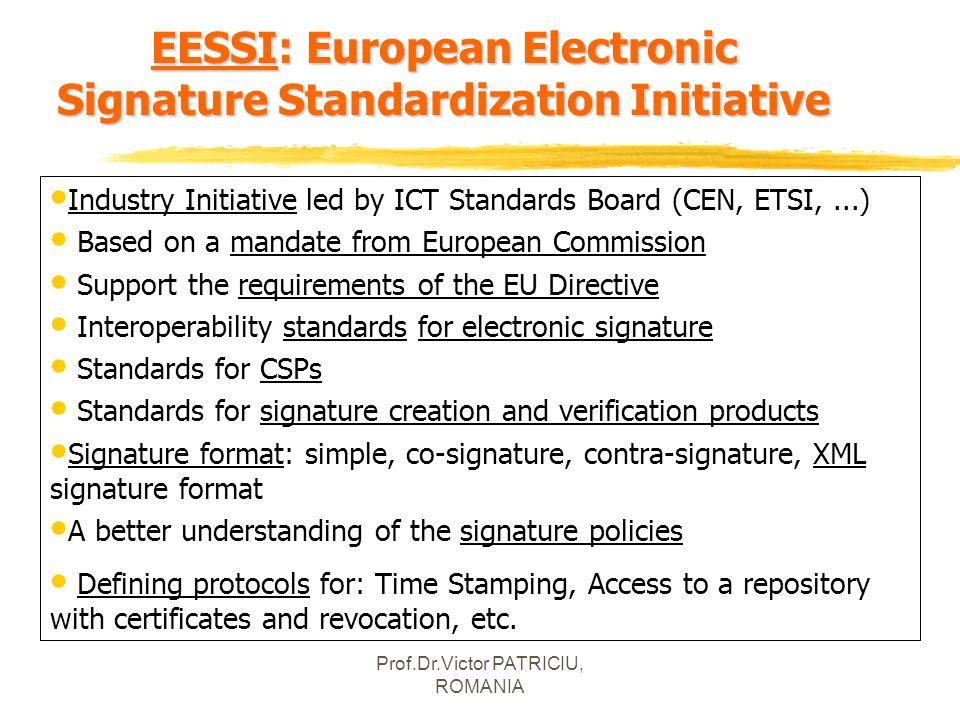 EESSI: European Electronic Signature Standardization Initiative