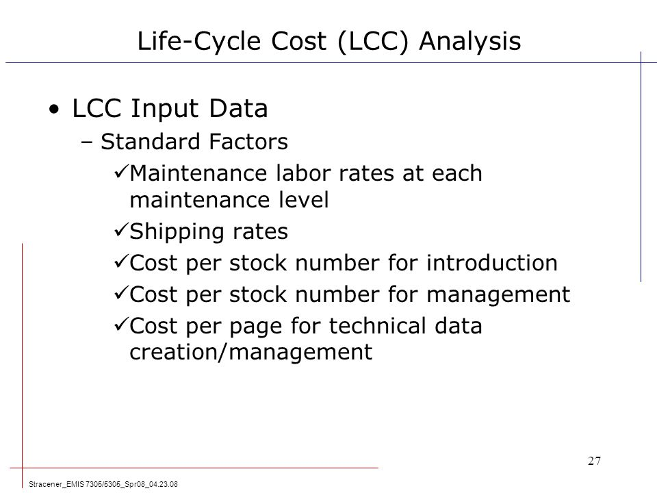 an analysis of the variables that effect the life span Herein we investigate life cycle cost (lcc) and return on investment (roi) as  potential decision variables for evaluating the economic  we demonstrate the  application of probabilistic lcc and roi analyses by assessing the impact of.
