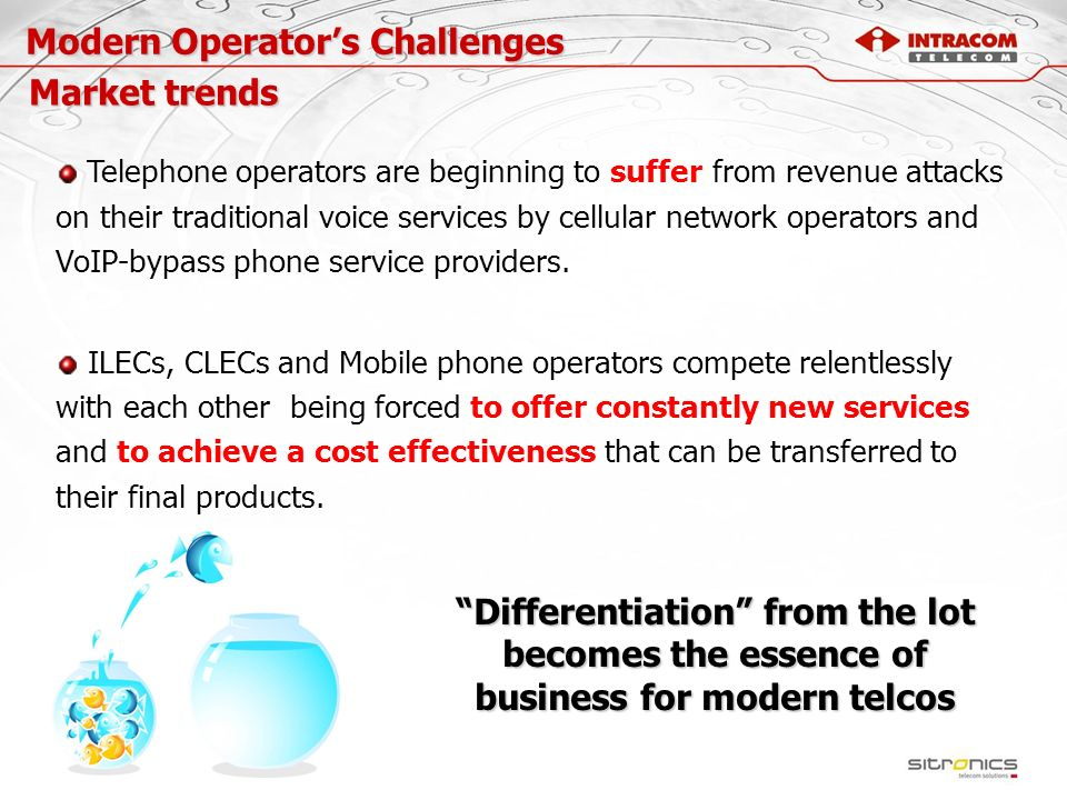 Modern Operator's Challenges Market trends