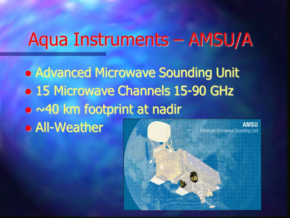 Aqua Instruments – AMSU/A
