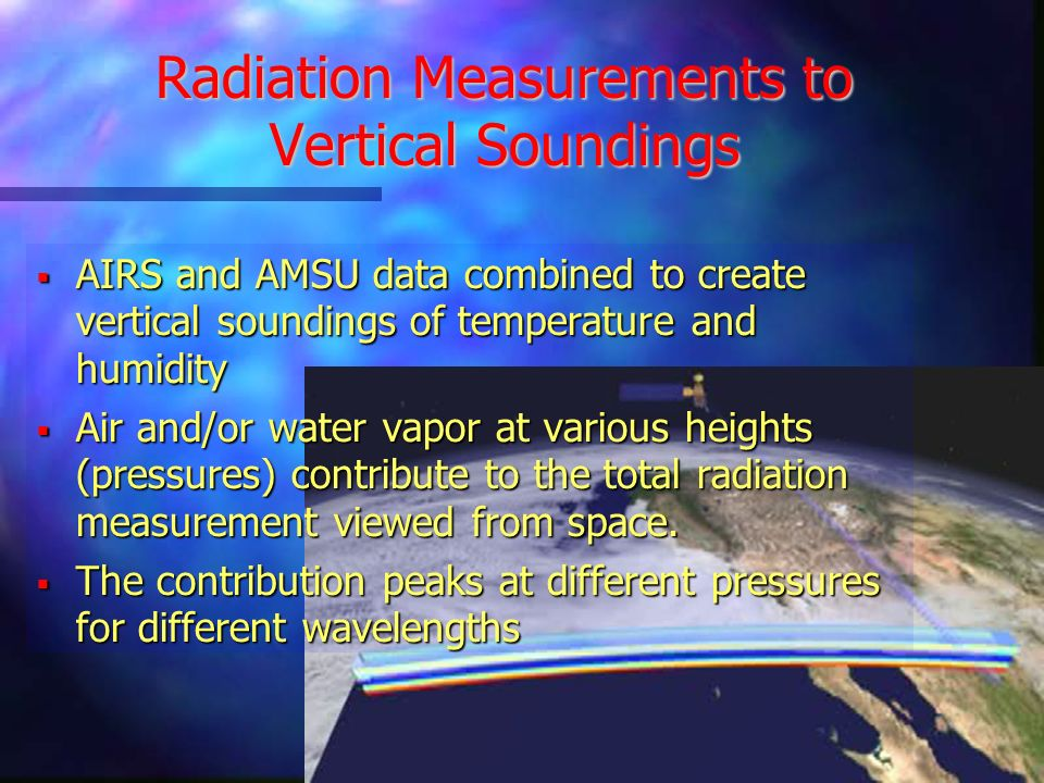 Radiation Measurements to Vertical Soundings