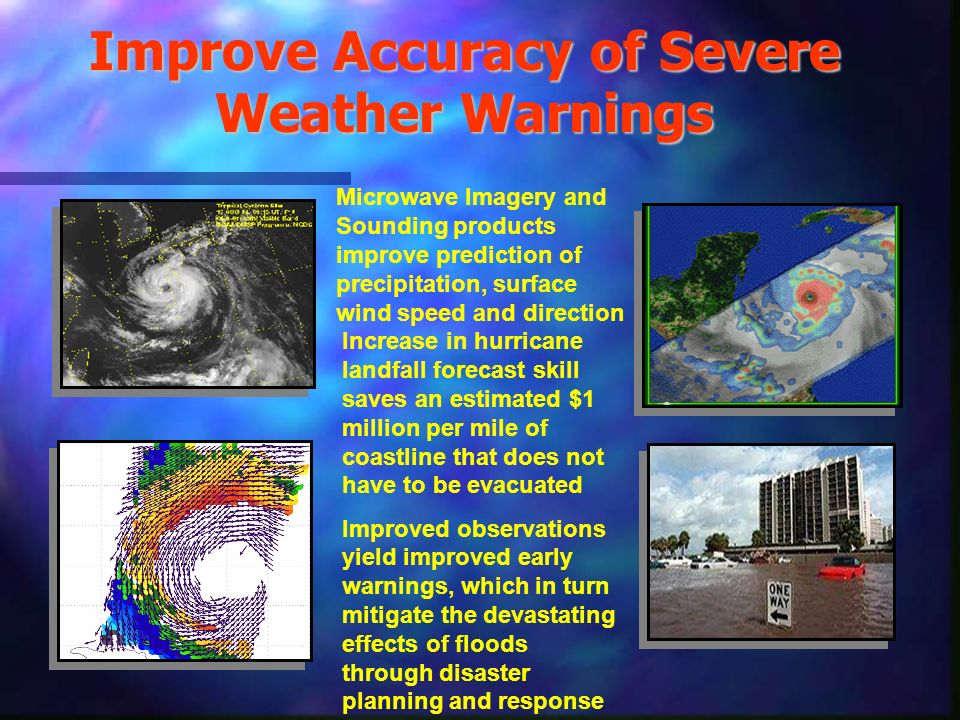 Improve Accuracy of Severe Weather Warnings
