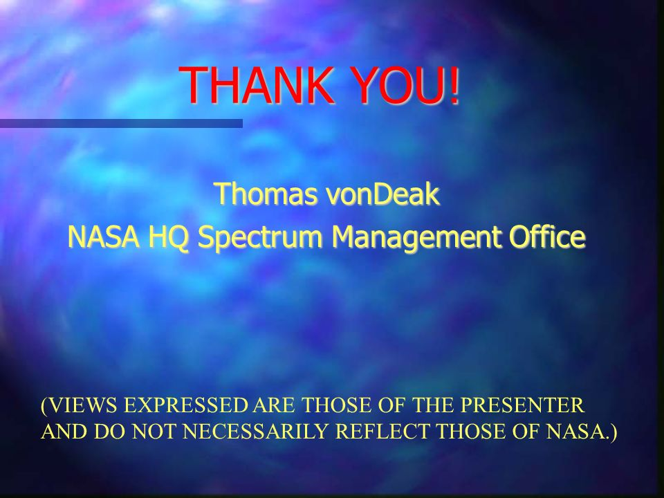 NASA HQ Spectrum Management Office