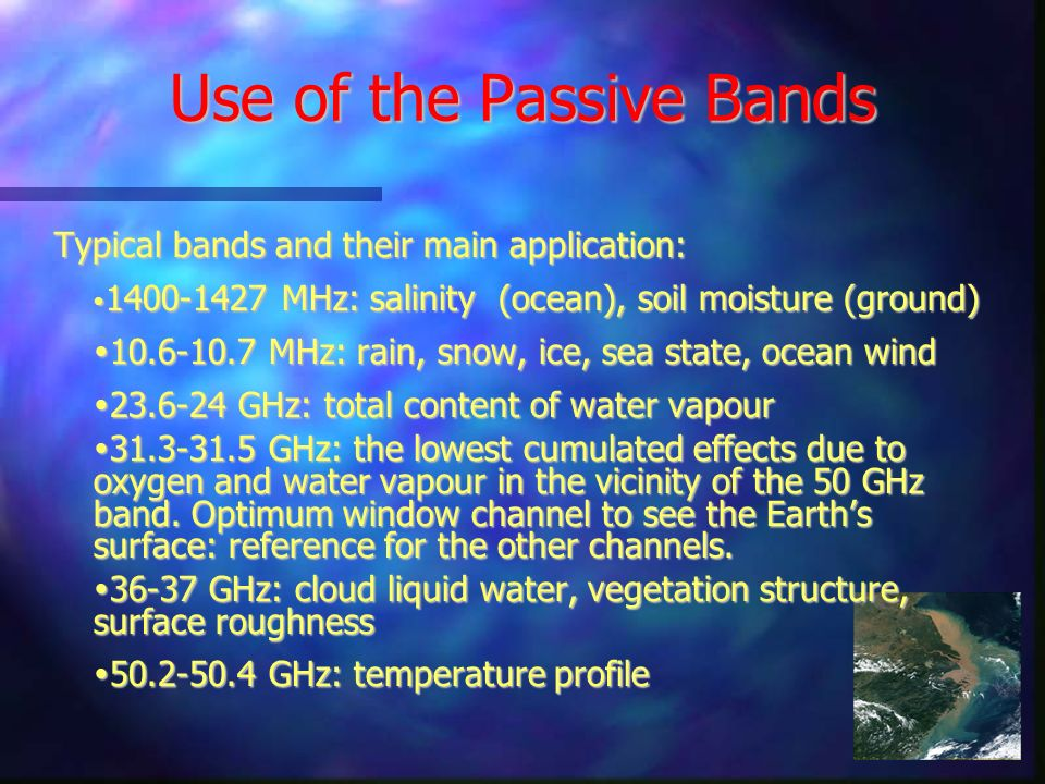 Use of the Passive Bands