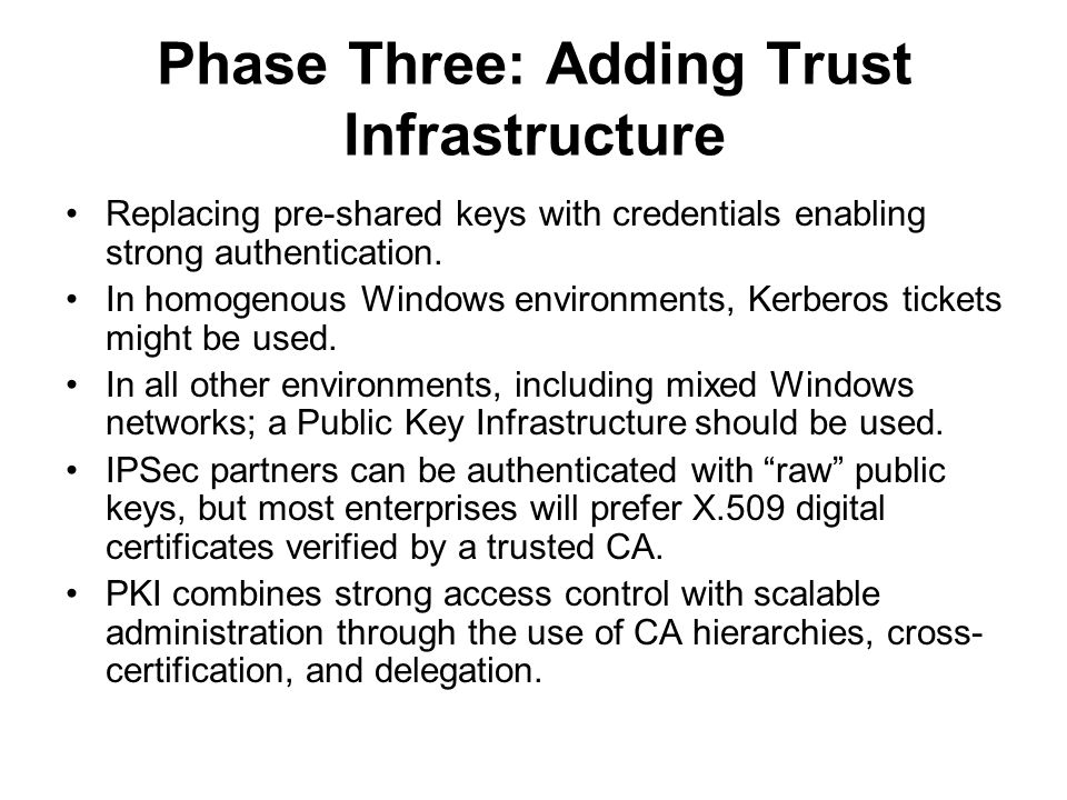 Phase Three: Adding Trust Infrastructure