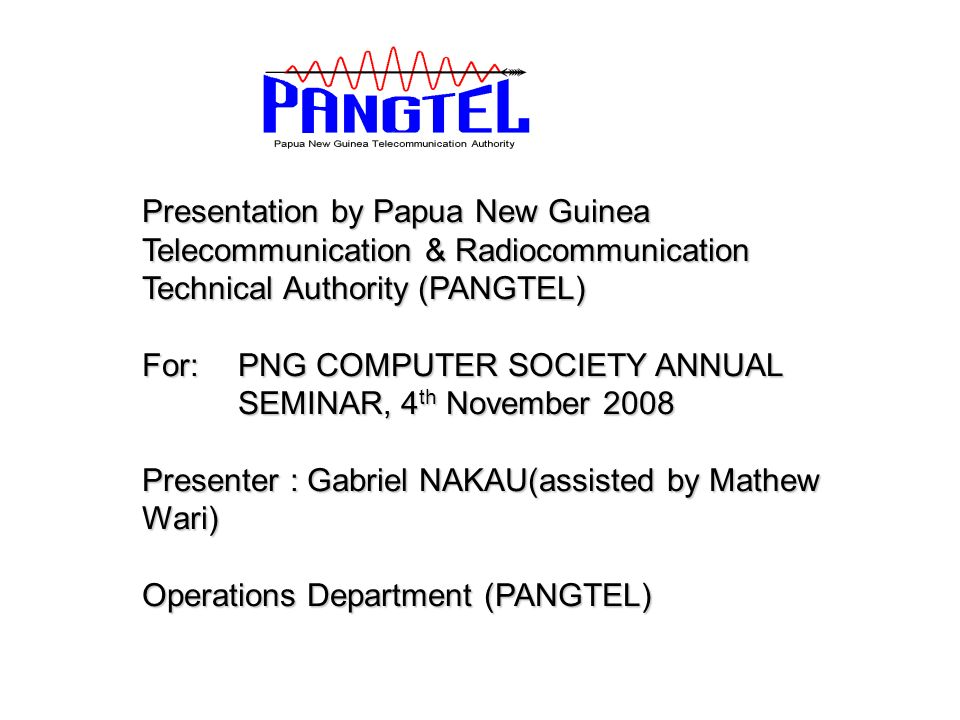 presentationpapua new guinea telecommunication, Powerpoint templates