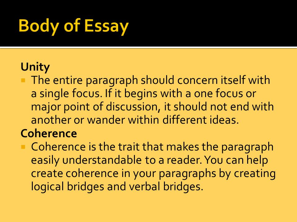 writing a research paper ppt body of essay unity