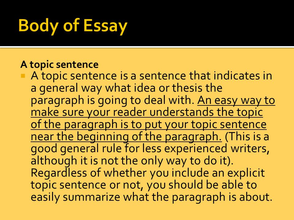 Body Language Essay
