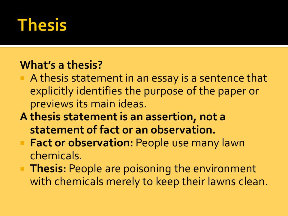 thesis and statement of purpose