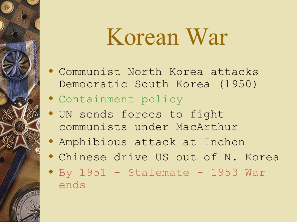 Korean War Communist North Korea attacks Democratic South Korea (1950)