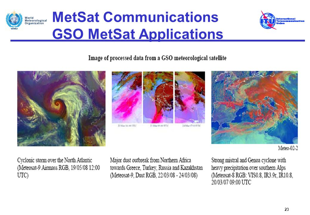 MetSat Communications GSO MetSat Applications
