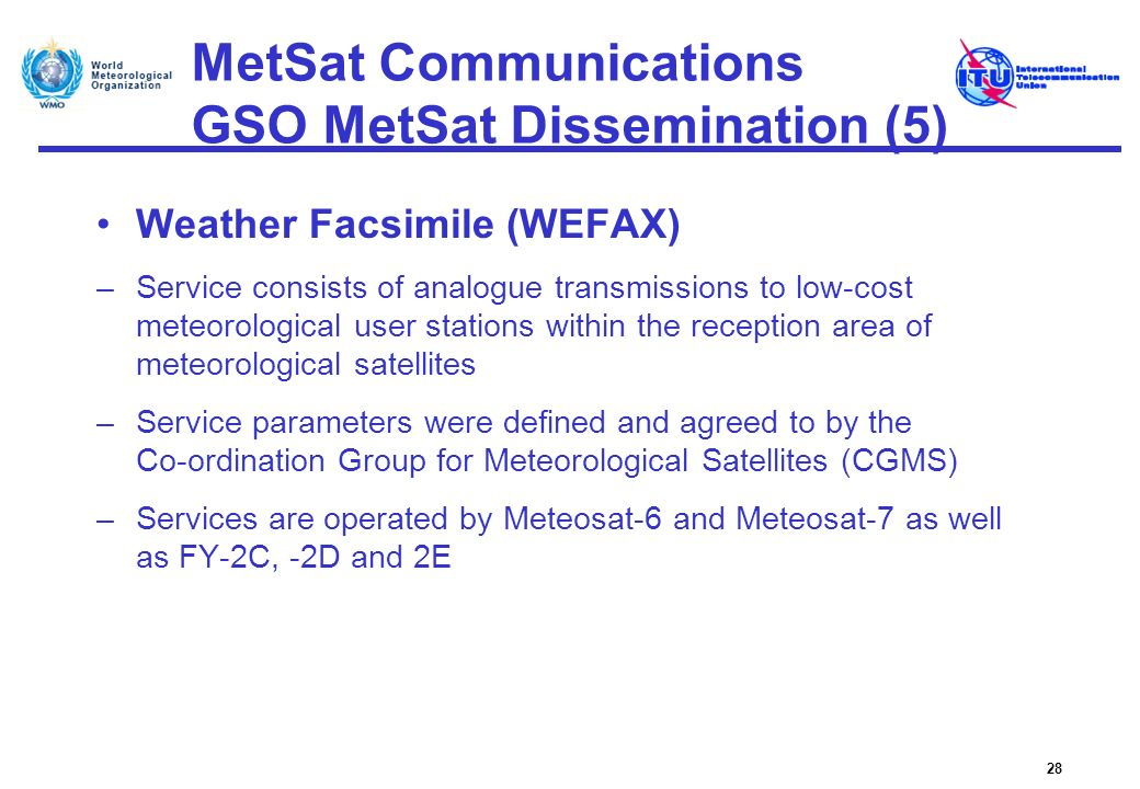 MetSat Communications GSO MetSat Dissemination (5)