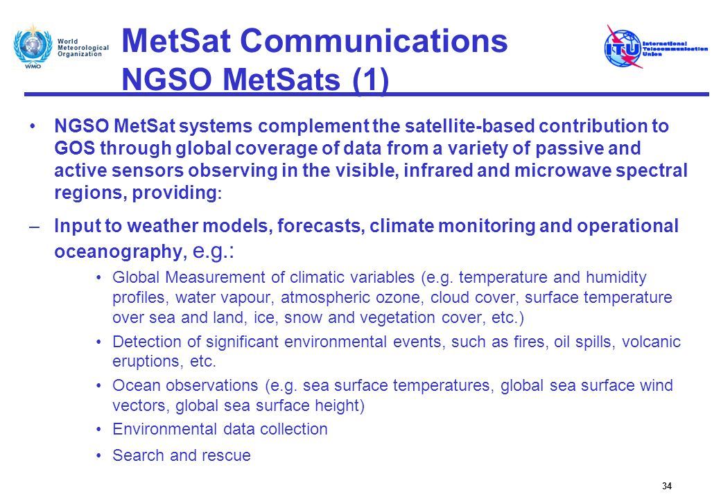 MetSat Communications NGSO MetSats (1)