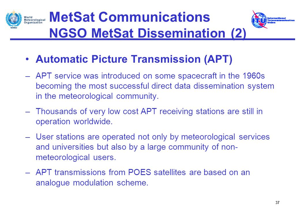 MetSat Communications NGSO MetSat Dissemination (2)