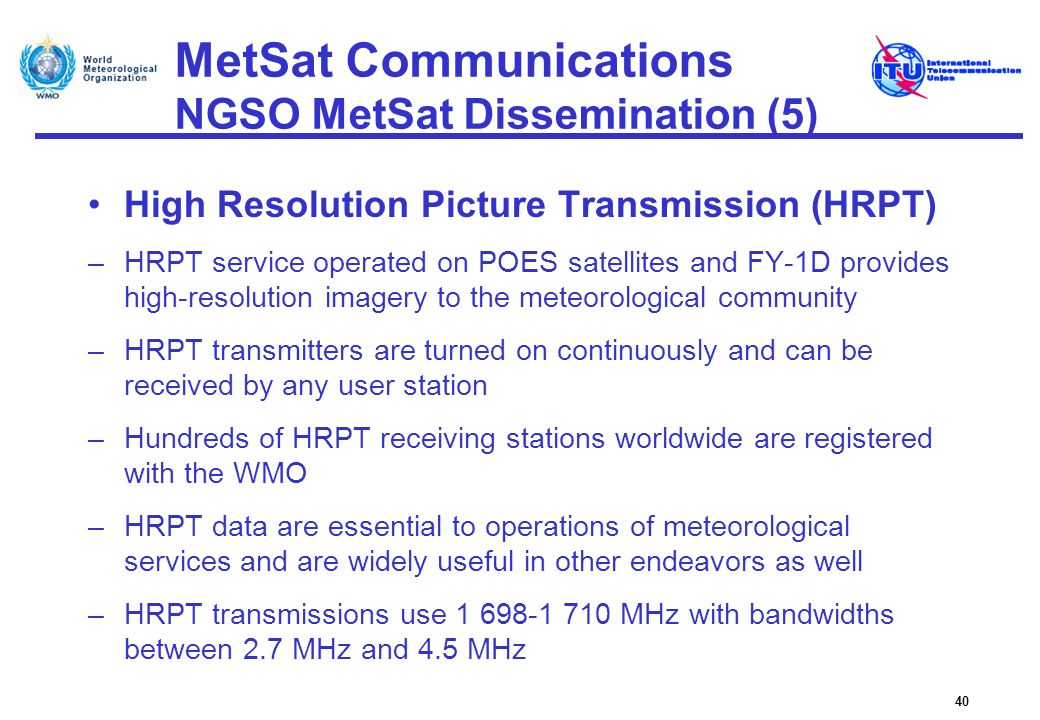 MetSat Communications NGSO MetSat Dissemination (5)