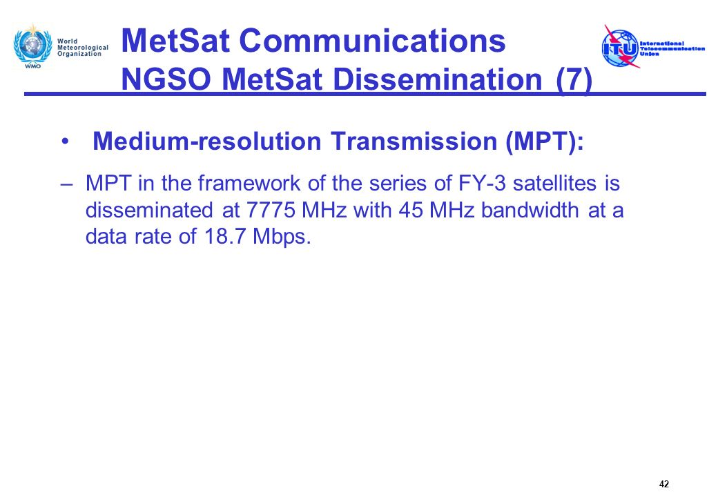 MetSat Communications NGSO MetSat Dissemination (7)