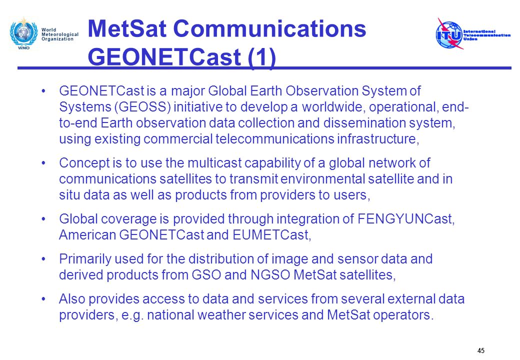 MetSat Communications GEONETCast (1)