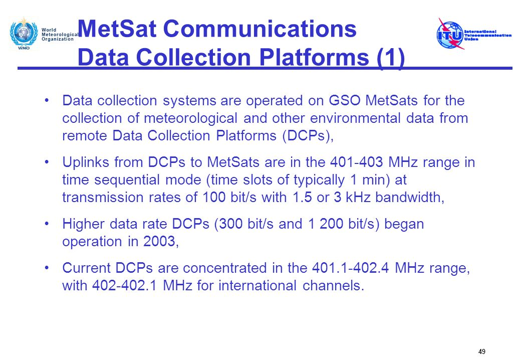 MetSat Communications Data Collection Platforms (1)